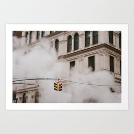 Timed Traffic Art Print