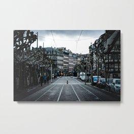 Metro lines Metal Print