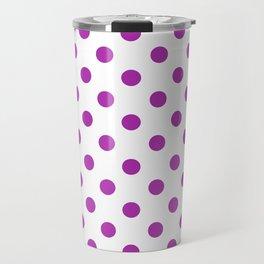 Polka Dots (Purple & White Pattern) Travel Mug