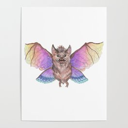 Marvelous Things - Bat with Butterfly Wings Poster