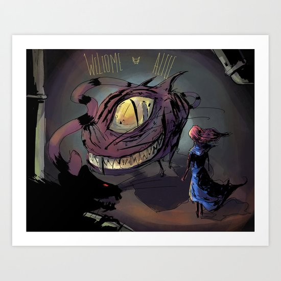welcome alice Art Print
