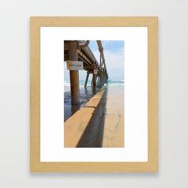 Sand Pumping Jetty Framed Art Print