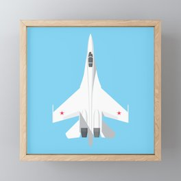 Su-27 Flanker Fighter Jet Aircraft - Sky Framed Mini Art Print
