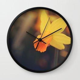 Yellow Narcissus Wall Clock