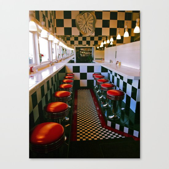 Diner classic Canvas Print