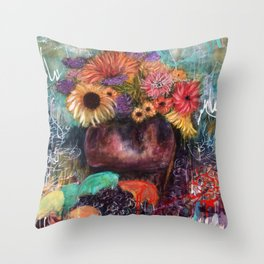 Botanical Remix (by912-StreetDreams) Throw Pillow