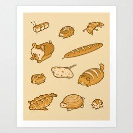 Live, Laugh, Loaf Pattern Art Print