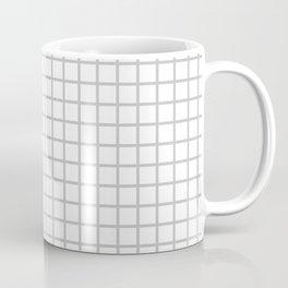 Light Grey Grid Pattern Coffee Mug