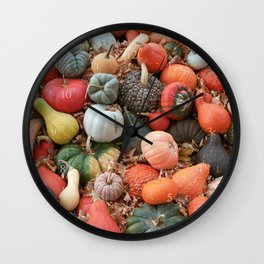 cornucopia (heirloom pumpkins and squashes) Wall Clock
