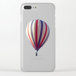 Flying in Blue, White and Red Hot air Balloon Clear iPhone Case