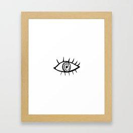 Minimal eye Framed Art Print