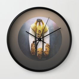 Christmas Banana Triptych Wall Clock