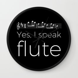 Yes, I speak flute Wall Clock