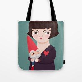 Amélie Poulain and the dwarf Tote Bag