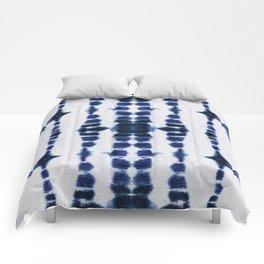 Boho Tie-Dye Knit Vertical Comforters