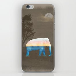 An Elephant Dreams of the Sea iPhone Skin
