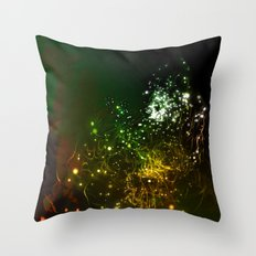 Mysterious World In the Garden Throw Pillow