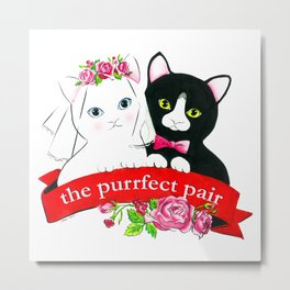 The Purrfect Pair Metal Print
