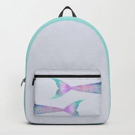 mermaid tail (purple & green) Backpack