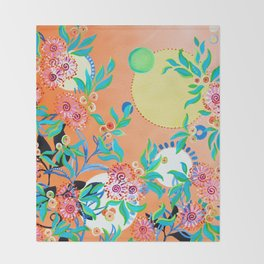 Sunset Gums - Abstract Floral Throw Blanket
