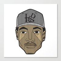chance the rapper Canvas Prints featuring Chance the Rapper by Λdd1x7
