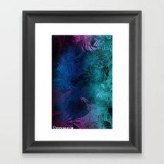 January Fractal Framed Art Print
