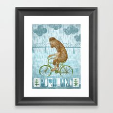 Dirty Wet Bigfoot Hipster Framed Art Print
