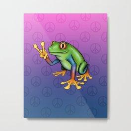 Peace Frog Metal Print