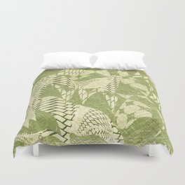 Green Layers Duvet Cover