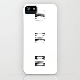 Black striped windows iPhone Case