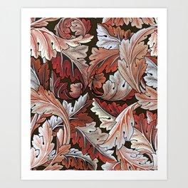 Art Nouveau William Morris Autumn Acanthus Leaves Kunstdrucke