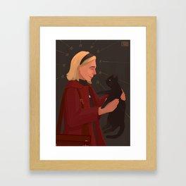 Sabrina and Salem Framed Art Print