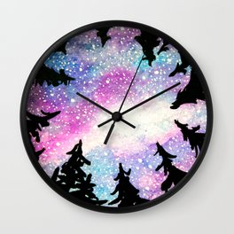 Up to the night sky Wall Clock
