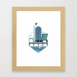 The Riverside Quarter Framed Art Print