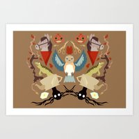 over the garden wall Art Prints featuring Over The Garden Wall by Berneri