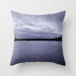 Shimmering water Throw Pillow