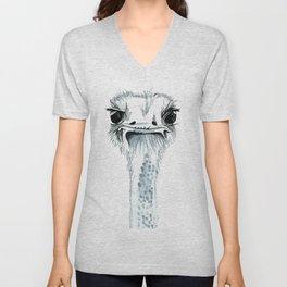 Percy the Ostrich Unisex V-Neck