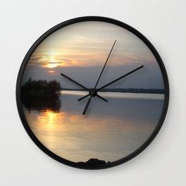 Sunset, Lough Derg - Ireland Wall Clock