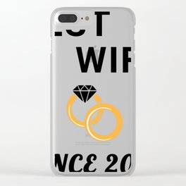 Wife 11th Anniversary Gift, Women's Wedding Present Graphic Clear iPhone Case