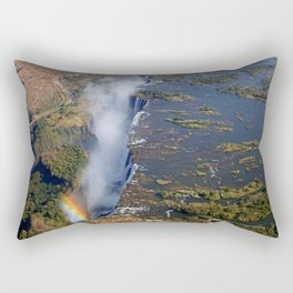 Flight over the Victoria Falls, Zambia Rectangular Pillow