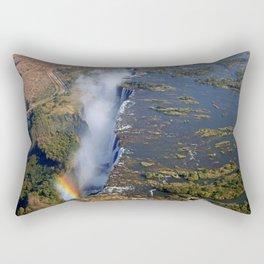 Flight over the Victoria Falls, Zambia Rectangular Pillow