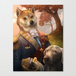 Royal Shiba Dog Portrait Canvas Print