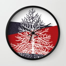 Tree Silhouette II Wall Clock
