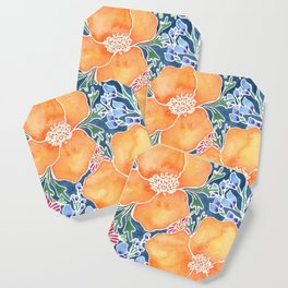 Masked Flora Collection Poppies Coaster