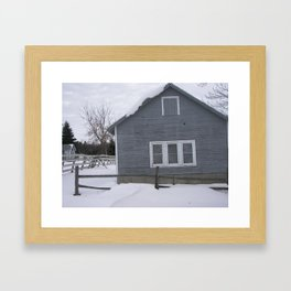 winter. Framed Art Print