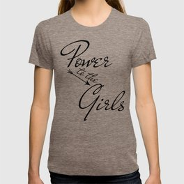 Power to the Girls | black arrow v. T-shirt