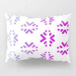 Pink teal abstract watercolor geometric pattern Pillow Sham