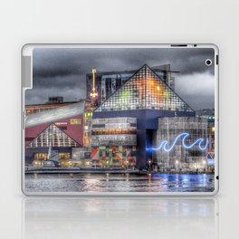 Baltimore Inner Harbor National Aquarium Skyline At Night Laptop & iPad Skin