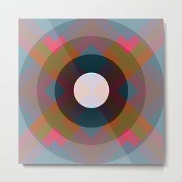 Colorful Retro Pattern Metal Print