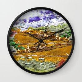 Honey fields dreamscape Wall Clock